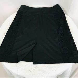 Cato Skirts - Cato *PLUS SIZE* 💋 Black Skirt Lace Side Panels